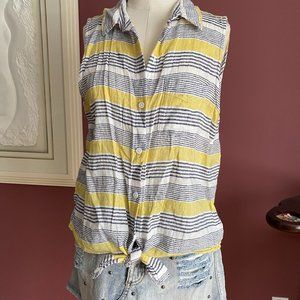 Beach Lunch Lounge striped sleeveless blouse M
